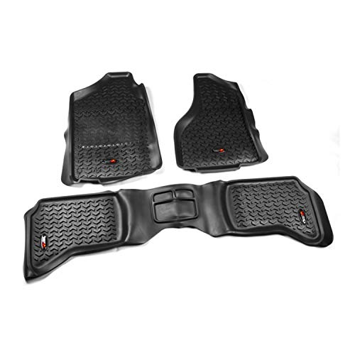 Rugged Ridge 82989.40 2002-2014 Dodge, Ram 1500, 2500, and 3500 Quad Cab Black Front and Rear All Terrain Floor Liner Kit