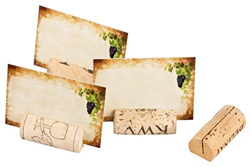 20 Tarjetas de mesa/Tarjetas de reservación Tarjetas con nombre hechas de corchos de vino usados para bodas, cumpleaños, fiestas, celebraciones