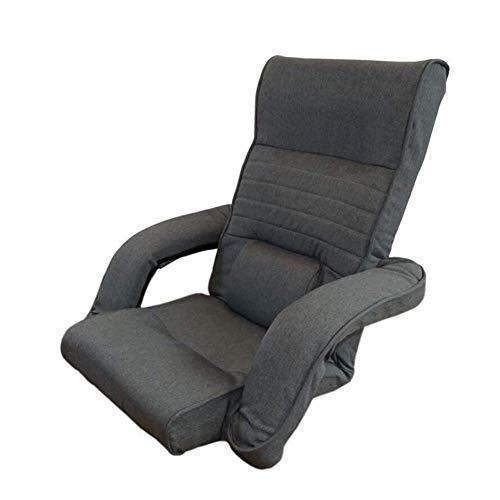 YLCJ ligstoel, inklapbaar, voor ligstoelen, voor luisteren naar muziek/leggings, met standaard voor rug (donkerblauw)