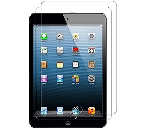 WEOFUN 2 Unidades iPad Mini 3 / Mini 2 / Mini 1 Protector de Pantalla, Cristal Templado para iPad Mini 3/2/1 Protector Vidrio Templado [0.33mm, 9H, Alta Definicion]
