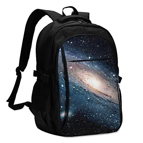 XCNGG Star Galaxy Travel Laptop Backpack College School Bag Casual Daypack with USB Charging Port