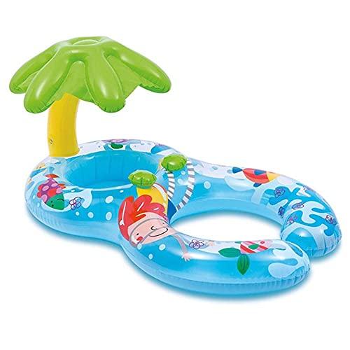FIONAT Anillo de natación Plegable para bebé, Flotador para bebé, Accesorios para Piscina Inflable, Juguete de balsa Doble, Juguete para Piscina de Verano para divertirse