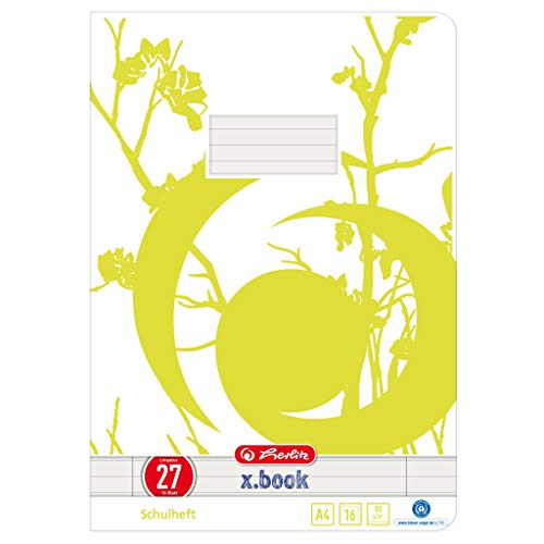 Herlitz 3352705 Hefte A4/16 UWS Lineatur 27 (liniert mit 2 Rändern) 10er Packung Motive