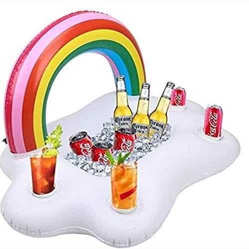 SKY TEARS Hinchable Portavasos Titular de Bebida Inflable para Bebidas Flotante Bar Verano Piscina Fiesta