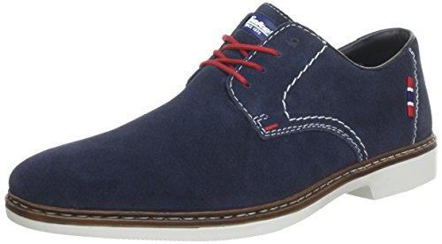 Rieker 13012, Zapatos de Cordones Derby Hombre, Azul (Pazifik / 14), 42 EU