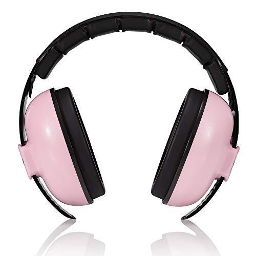 roynoy | Gehörschutz Baby 0-2 Jahre | Baby Ohrenschützer Lärm | Lärmschutz Baby | (rosa) mit Aufbewahrungsbeutel