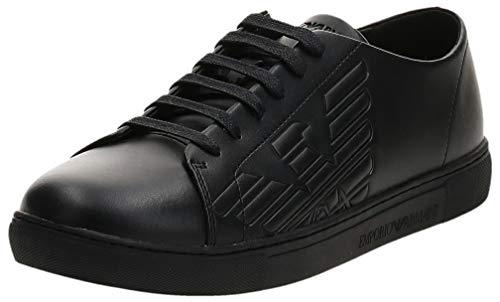 EMPORIO ARMANI Remo Zapatillas Moda Hombres Negro - 41 - Zapatillas Bajas