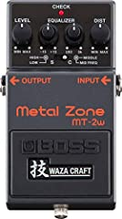 Premium WAZA craft pedal with all-analog audio circuitry Innovative dual-stage gain circuit built with discrete analog components Standard mode updates the famous mt-2 metal zone sound with improved clarity and lower noise Custom mode delivers full-t...