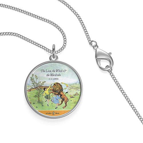 The Lion,The Witch & The Wardrobe Book Cover Single Loop Necklace Gift for Gift Book Lovers