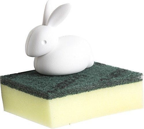 QUALY - qualy QL10206WH bunny porte eponge design lapin
