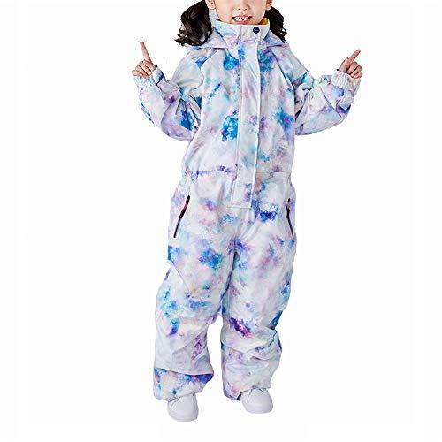 QinWenYan Kinderskianzug Floral Langärmliger Dicken Winter Im Freien Wasserdicht Baby Snowsuit Piece Skianzüge for Kinder (Color : C2, Size : 100)