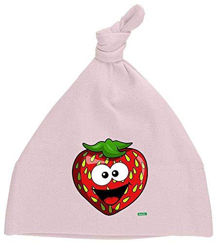 Gorro para bebé de Hariz, con nudos, fresa, salmón, frutas, verano, incluye tarjeta de regalo Algodón de azúcar rosa.