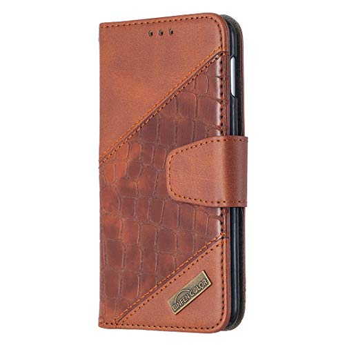 Hülle für Galaxy S10e Handyhülle Schutzhülle Leder PU Wallet Bumper Lederhülle Ledertasche Klapphülle Klappbar Magnetisch für Samsung Galaxy S10e/G970F - ZIBF060269 Braun