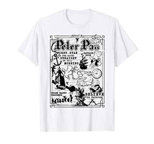 Disney Peter Pan Storytelling Map T-Shirt
