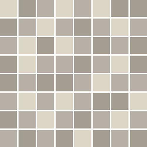 PrintYourHome Fliesenaufkleber für Küche und Bad | Mosaik Nebel glänzend | Fliesenfolie für 15x20cm Fliesen | 14 Stück | Klebefliesen günstig in 1A Qualität