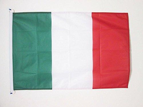 AZ FLAG Drapeau Italie 90x60cm - Drapeau Italien 60 x 90 cm Spécial Extérieur - Drapeaux