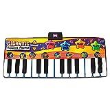 QHGao Alfombrilla para Piano De 24 Teclas, La Alfombrilla para Piano Tiene Grabación, Reproducción, Demostración, Reproducción, Volumen Ajustable, 8 Instrumentos Musicales Seleccionables, Plegable