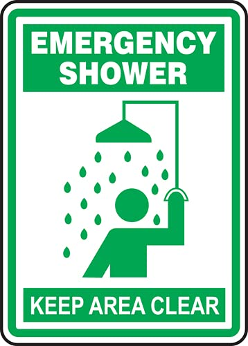 Jendco - Safety Sign: Emergency Washington Mall Shower x Area Topics on TV Clear 14