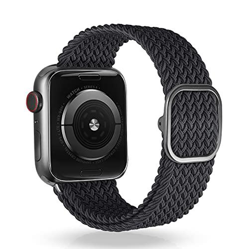 VEESIMI Kompatibel mit Apple Watch Armband 38 mm 40 mm 42 mm 44 mm, Einstellbar Dehnbares Armband mit Schnalle, Elastisch Sport Ersatzarmband Kompatibel mit iWatch Series SE 6/5/4/3/2/1