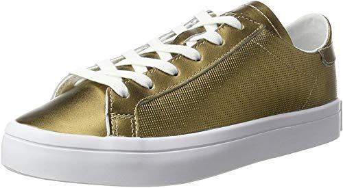 adidas Courtvantage, Scarpe da Ginnastica Basse Donna, Oro (Copper Metallic/Copper Metallic/Footwear White), 36 2/3 EU