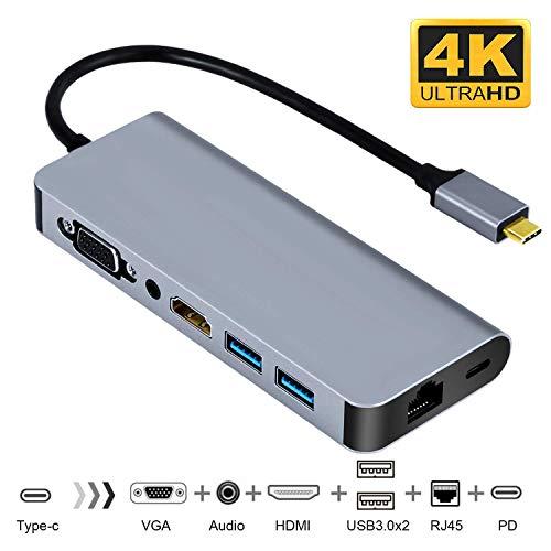 USB-C-Hub mit Ethernet-Anschluss, Samsung Dex Station USB Typ- C auf HDMI/VGA-Adapter, für Galaxy Note 9/8/S9/S8, kompatibel mit Macbook/MacBook Pro, HDMI-Adapter