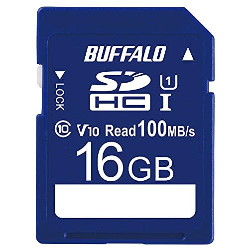 バッファロー SDカード 16GB UHS-1 スピードクラス1 Video Speed Class10 100MB/s IPX7 Full HDメーカー保証1年間 RSDC-016U11HA/N
