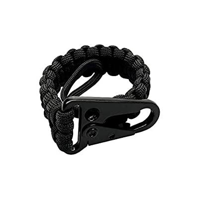 MURADIN EDC Tether Tactical Carabiner Weave 550 Paracord 10 Inch