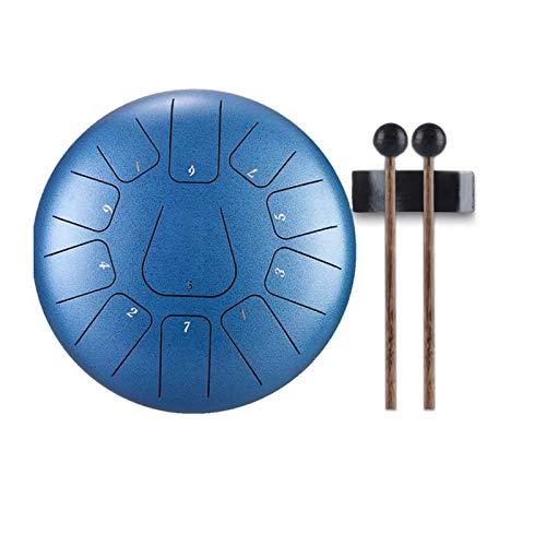 MINGDIAN Tambor de Lengua de Acero de 10 Pulgadas y 11 Notas, Mini Tono, Tambor de Mano, Tambor de Tanque, con Baquetas, Instrumentos de percusión