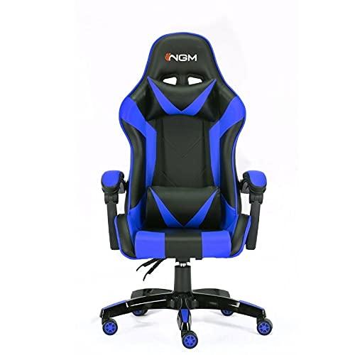 NGM Silla para Gaming, Azul/Negro, L