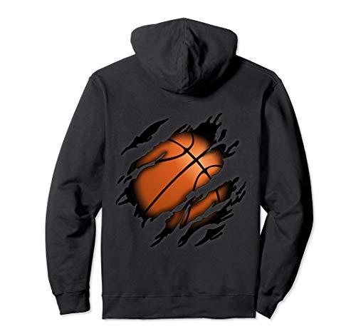 Basketball in mir Design, Basketballdesign Pullover Hoodie