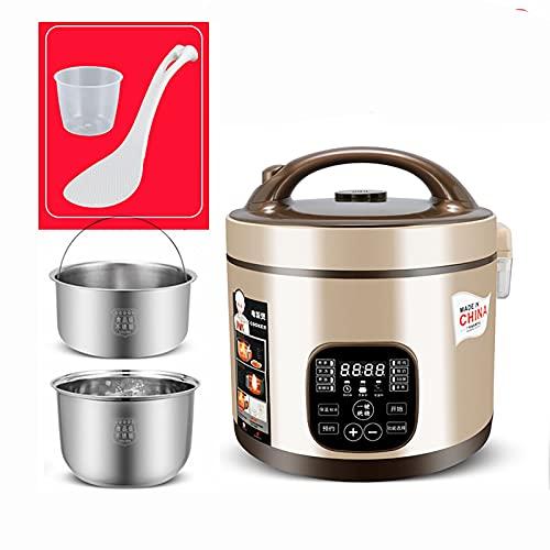 Cuociriso (3/5L) Rice cooker multifunzione a basso contenuto di zucchero per uso domestico in acciaio inossidabile 304, zuppa di riso separata, per 2-7 persone (Color : A, Size : 3l)