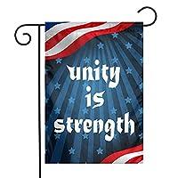 Unity is Strength Unique Design Garden Banner 12 X 18 Inch Yard Banner、Duplex Printing