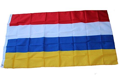 Fahne Mainzer Farben Rot Weiß Blau Gelb 90 x 150 cm
