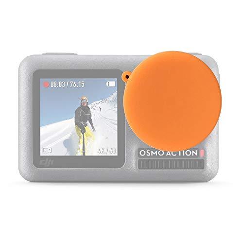 N / A Cámaras de Acción Accesorios Silicona Cubierta Protectora de la Lente, Conveniente for dji Osmo Acción (Color : Orange)