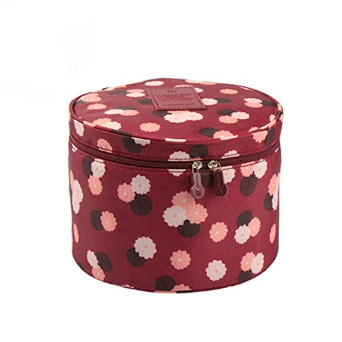 Underwear Storage Container Round Portable Multifunction Travel Storage Bag Cosmetic Cosmetic Bag Luggage Storage Box Bra Underwear Bag (Color : C)
