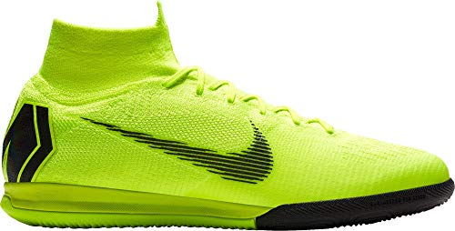 Nike Mens SuperflyX 6 Elite IC Indoor/Court Football Boot (Volt/Black) (8.5 Mens US)