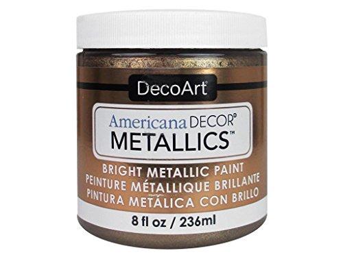 Deco Art Americana–Decoración Jarra de metálico de Pintura, acrílico, Bronce Antiguo, 7x 7x 8cm
