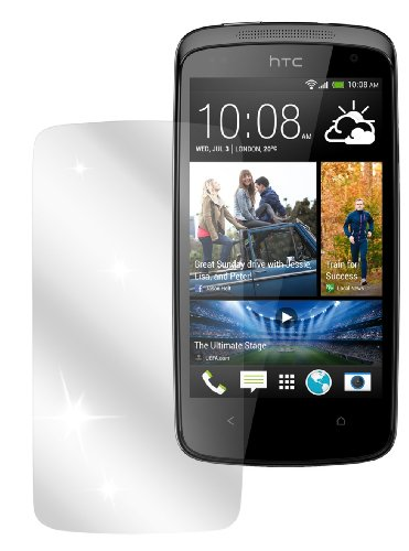 dipos I 2X Schutzfolie klar kompatibel mit HTC Desire 500 Folie Bildschirmschutzfolie