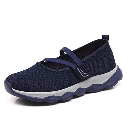 [Fatyet] ナースシューズ 安全靴 看護師 介護士 軽量 スリッポン マジックテープ サンダル室内 お母さん 婦人靴 つかれにくい 履きやすい レディーススニーカー 普段履き? ネイビー 23.0cm