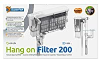 Superfish hang on filter is space saving, large filter media area and easy to clean! Large filter cartridges with activated carbon. Comes with a surface skimmer attached to help provide great filtration. Ideal for aquariums upto 200l and comes with a...
