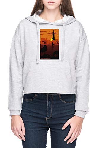 Vendax Und Das Revolverheld Gefolgt Damen Bauchfreies Crop Kapuzenpullover Sweatshirt Grau Women's Crop Hoodie Grey