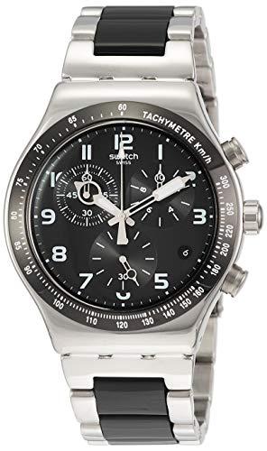 Swatch Herren Chronograph Quarz Uhr mit Aluminium Armband YVS441G