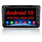 AWESAFE Android 10 Autoradio für VW Skoda Seat, 2 DIN 8 Zoll Touchscreen DAB+ unterstützung WLAN DVD USB RDS Bluetooth MirrorLink…