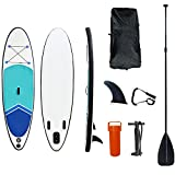 Surfboards Tabla de Surf Inflable,Inflatable Stand Up Paddle Board con Accesorios y Pala de Sup Premium, Mochila y Bomba de Mano (Size : 335 * 80 * 15cm)