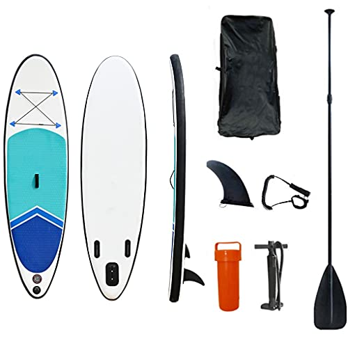 Inflatable Stand Up Paddle Board Standup Sup Paddle Board con Manual Air Pump, Safety Leash, Paddleboard Repair Kit, Storage Bag (Size : 290 * 78 * 15cm)