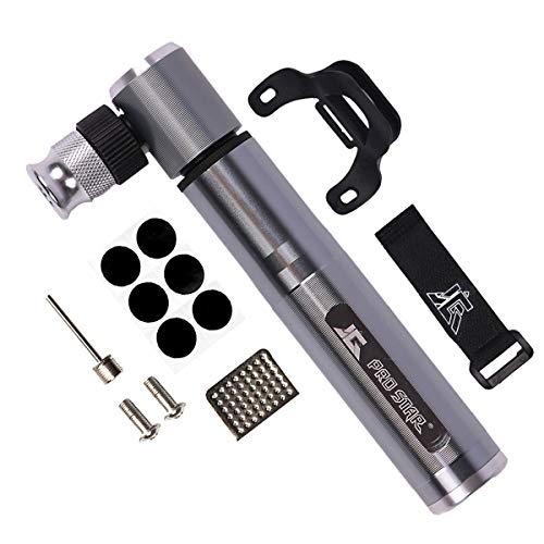 Mini Bike Pump Fits Presta/Schrader Valve, Portable Pocket Bike Pump, Ultralight Bicycle Tire Pump, 160 PSI High Pressure Pump for Road Mountain Bikes with Glueless Puncture Repair Kit