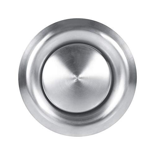 Cubierta de rejilla de ventilación redonda de acero inoxidable para conducto de ventilación de la pared del hogar difusor de techo suministro de escape para baño oficina cocina ventilación (150 mm)