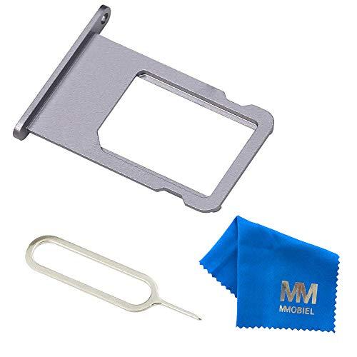 MMOBIEL SIM Karte Schlitten Tray Slot Ersatzteil kompatibel mit iPhone 6-4.7 inch (Schwarz) inkl SIM Pin