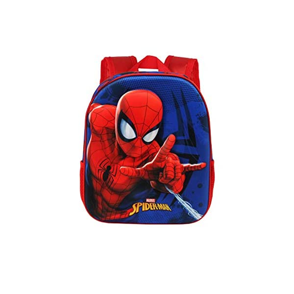 41hqe 6LHcL. SS600  - Karactermania Spiderman Crawler - Mochila 3D Pequeña, Multicolor
