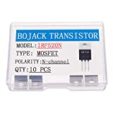 BOJACK IRF520 MOSFET Transistor IRF520N 9.7 A 100 V MOSFET di potenza N-Channel TO-220AB (confezione da 10 pezzi)